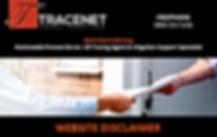 TRACENET LEGAL SERVICES WEBSITE DISCLAIMER