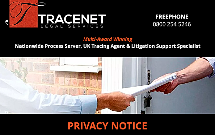 TRACENET LEGAL SERVICES PRIVACY NOTICE
