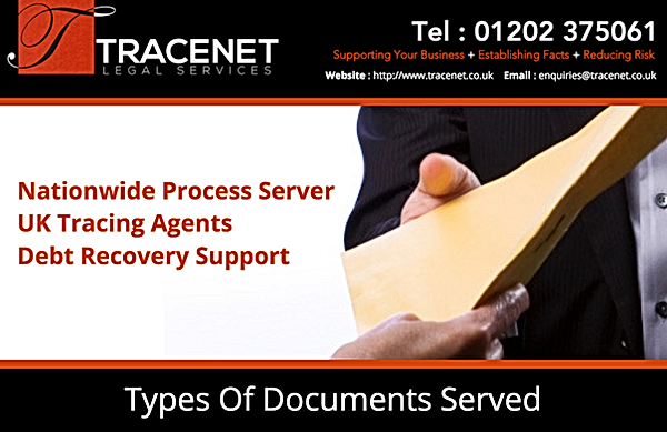 Types of Documents Served