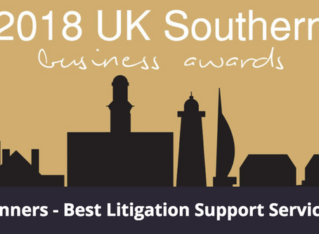 Winners - Best Litigation Support Services 2018 - SME Southern Business Awards
