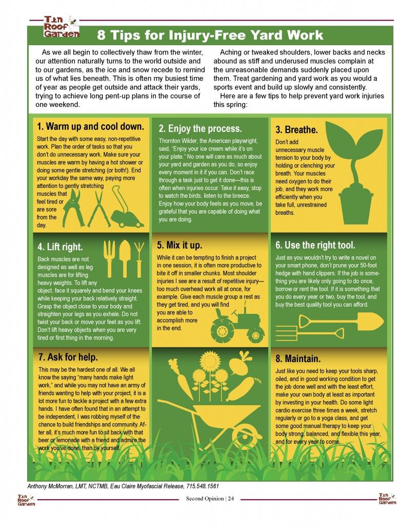 8 Tips for Injury-Free Yard Work