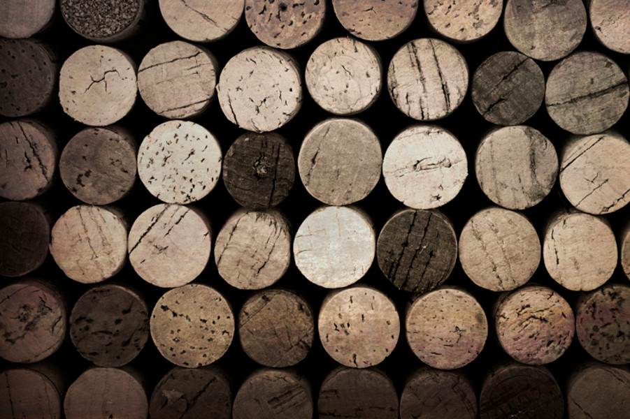 Vintage effect wine cork background