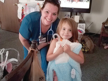 Heartland Hospice Helps with School Supplies  for Patient's Daughter
