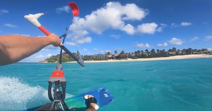 Kiting at Necker Island