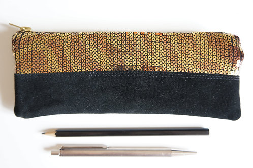 pouzdro GOLD / black 20 cm x 7,5 cm