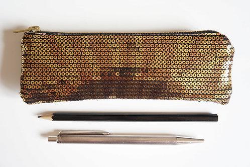 pouzdro GOLD / black 17 cm x 5,5 cm