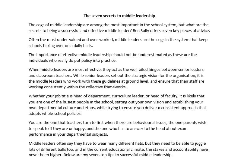 Aspiring Leaders Meeting 23.06.17