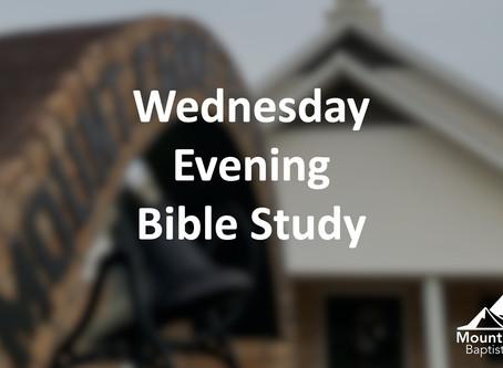 Wednesday Bible Study :: April 22, 2020 (6:30 PM)