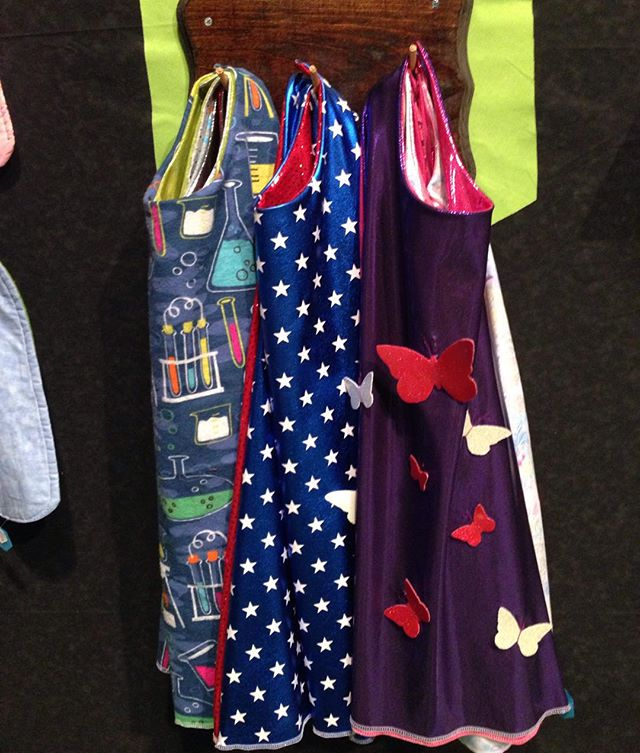 It is warm and dry at Blue Genie Art Bazaar! I made a bunch of new capes and unicorn horns this week