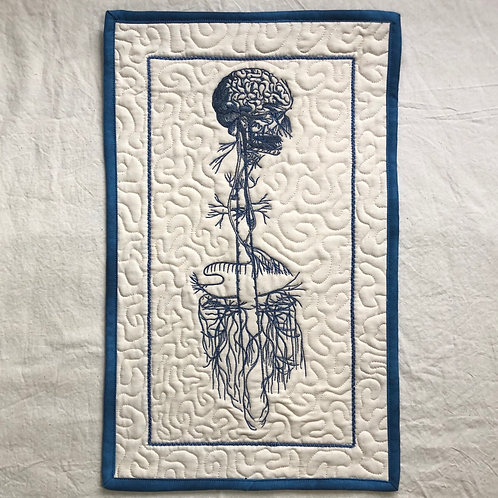 "Vagus Nerve 10x18"" quilted wall hanging"