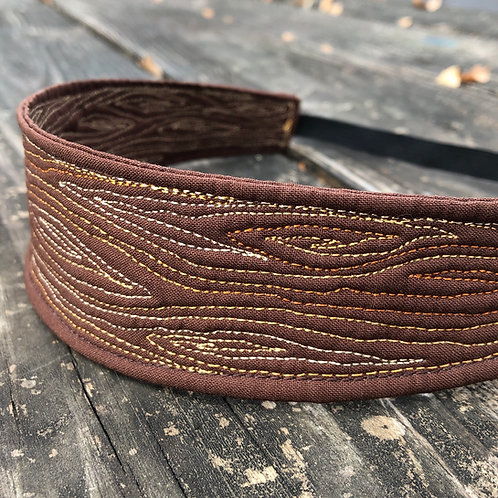 Woodgrain Quilted headband