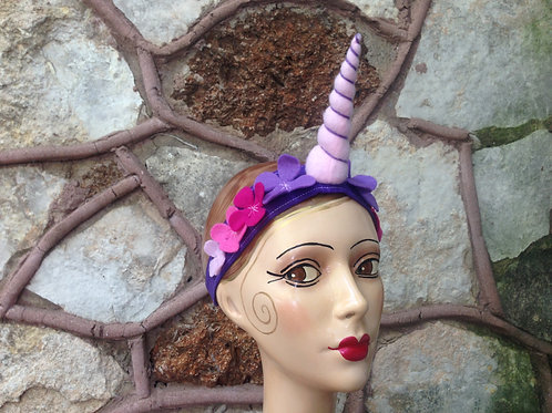 Pink and purple unicorn horn