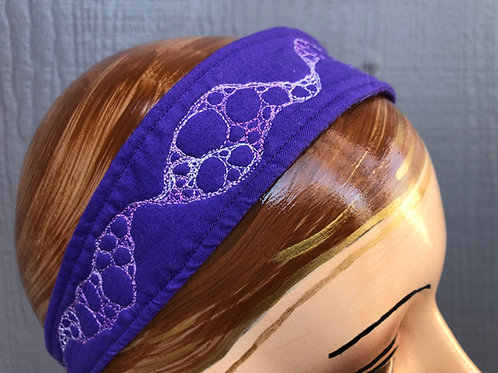 Quilted headband - cotton fabric