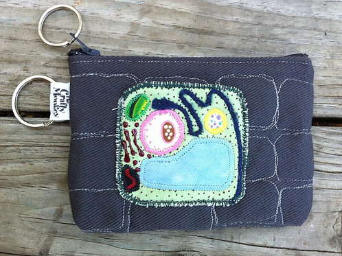 Plant cell diagram zipper bag