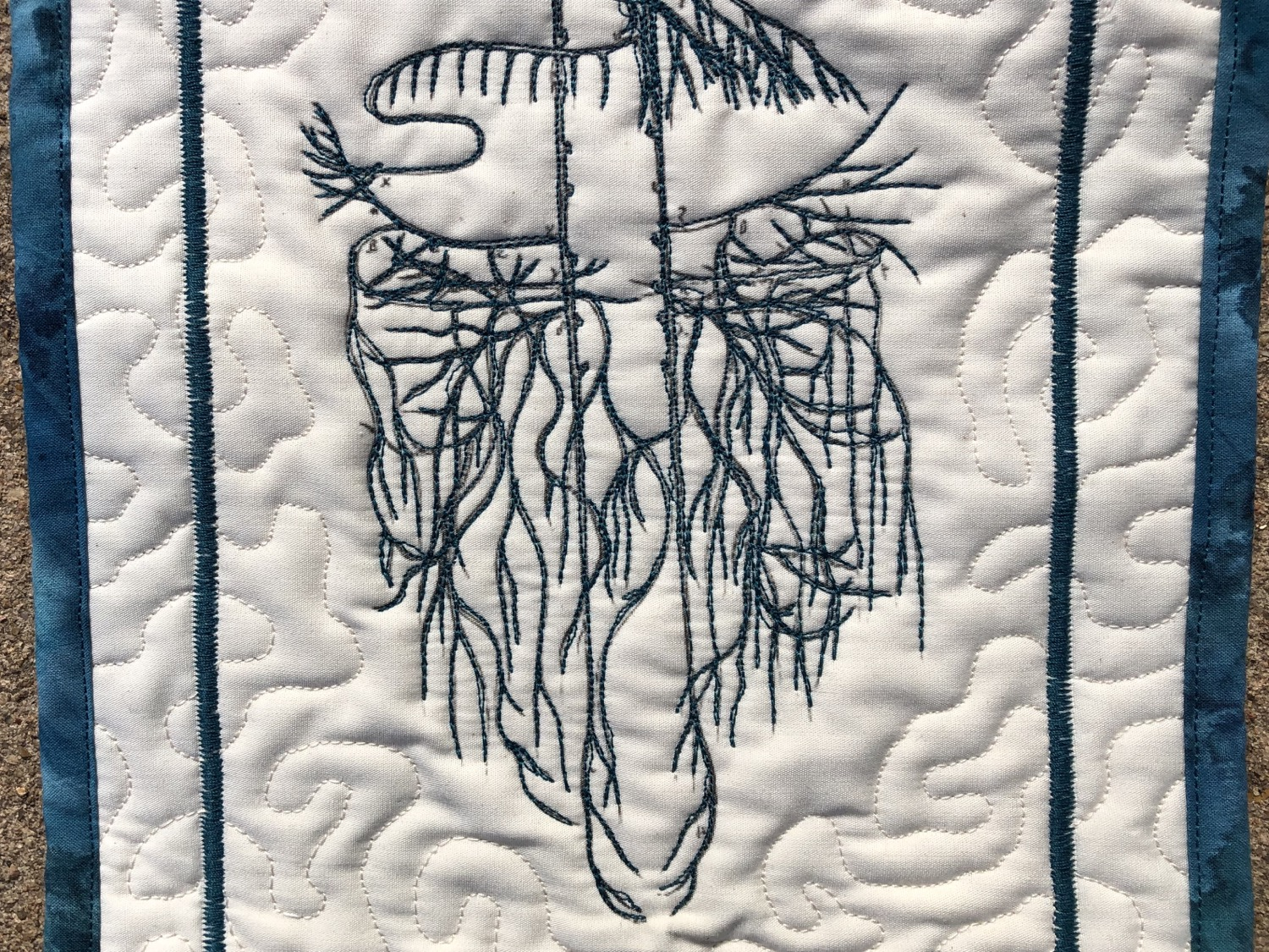 "Thumbnail: Vagus Nerve 8x16"" quilted wall hanging"