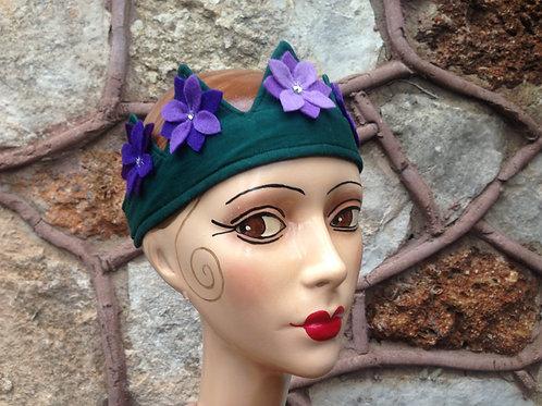 Violet flower crown