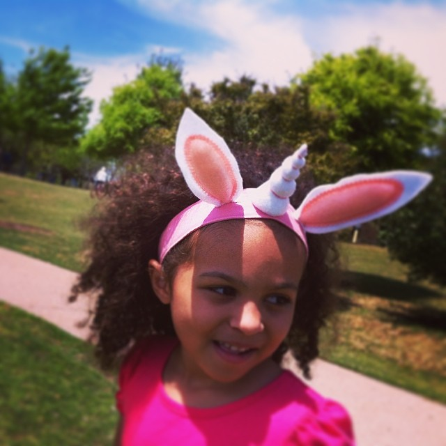 Bunny Unicorn headband for Spring! by The Crafty Monkey #Bunnicorn #Rabbicorn #Spring #EasterUnicorn