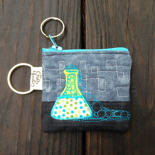 Coin purse - Lab Accident quilted zipper bag