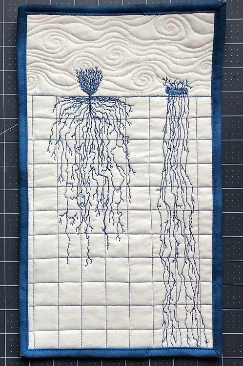 Roots #2 wall hanging 8x16""