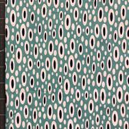 0195 - teal oval dot