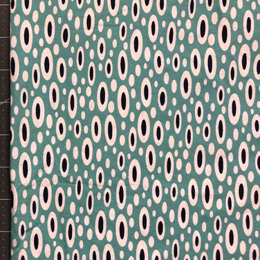 0195 - teal oval dot