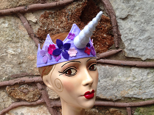 Unicorn crown with flowers