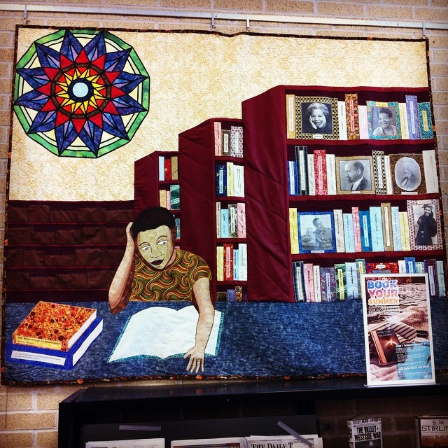 And we went next door to the Carver Library and visited a quilted wall hanging that I made years ago