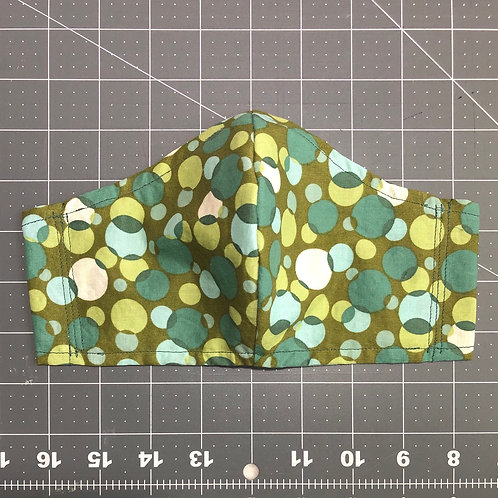 Green dots - Curved Fabric F