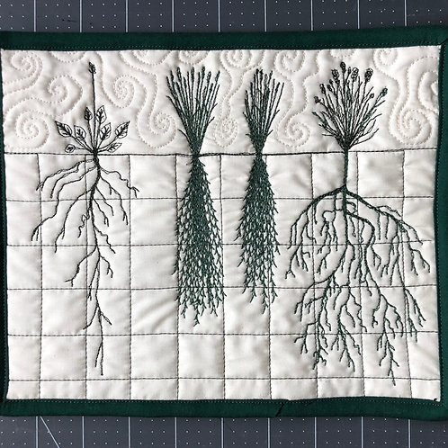 Roots #3 - wall hanging 10x8""