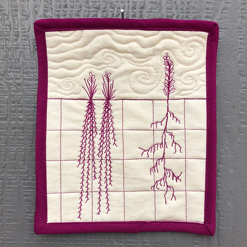 Roots #5 - wall hanging 6x6""