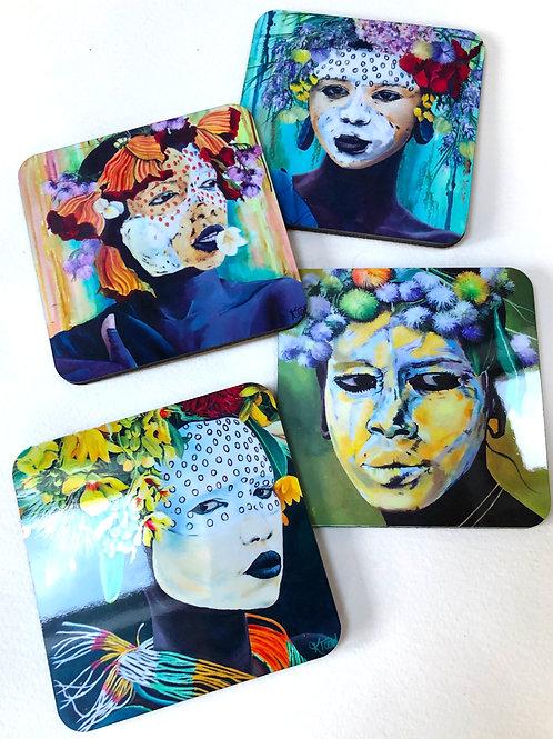 Bespoke Art Coasters - Set of 4