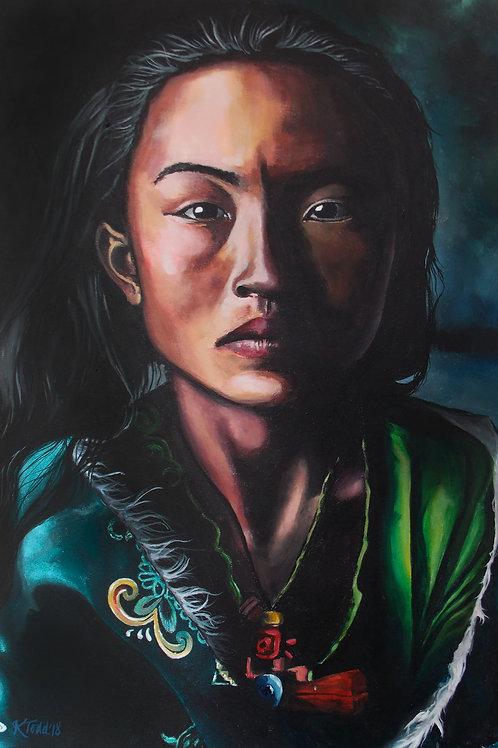 Choedron - Teenage oracle, Tibet