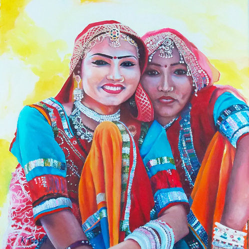 Indian Girls - Limited Edition Print