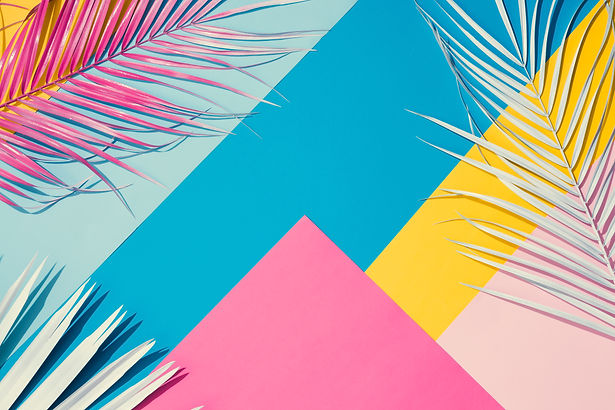 Tropical bright colorful background with
