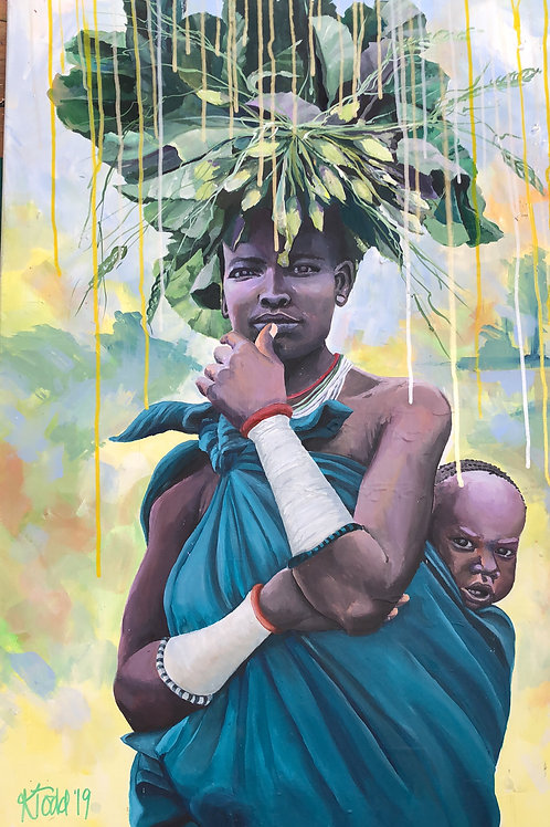 Rise of the Divine Feminine - Surma Mother and Baby