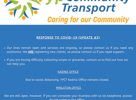 Response to COVID-19 (Update #3)