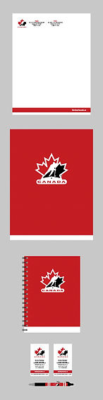 Hockey Canada 100th Anniversary Logo Staionary Package | Letterhead, Presskit, Notebook, Business Card