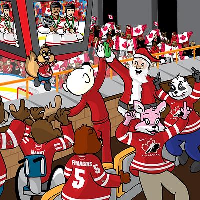 Puckster High Five Santa