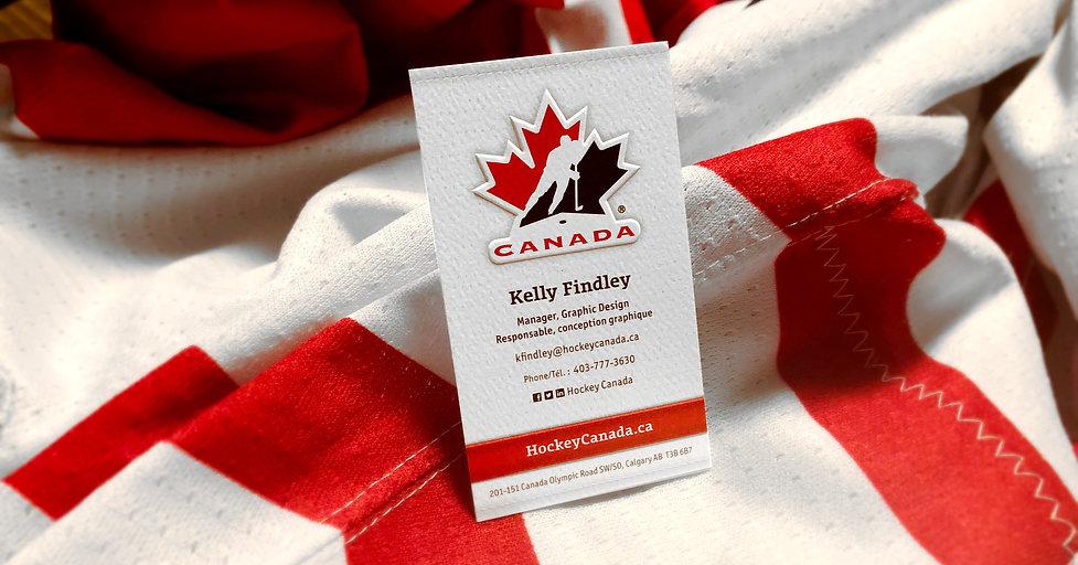 Hockey Canada Business Card