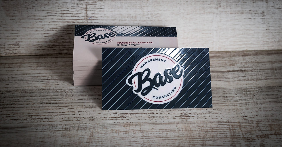 Base Management Consulting Business Cards