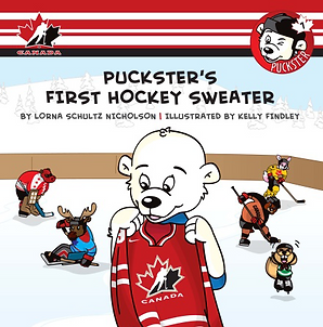 Book Puckster's First Hockey Sweater