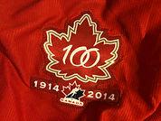 Hockey Canada 100th Anniversary Logo on Jersey