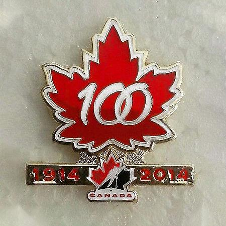 Hockey Canada 100th Anniversary Logo Pin