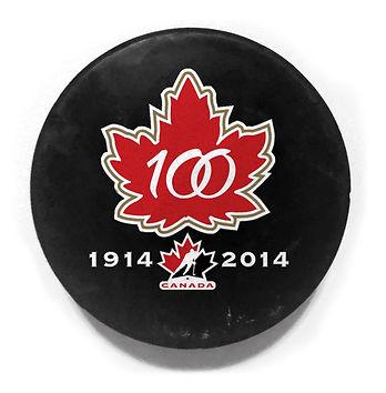 Hockey Canada 100th Anniversary Logo Puck