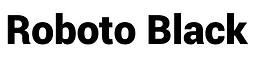 Typeface Roboto Black