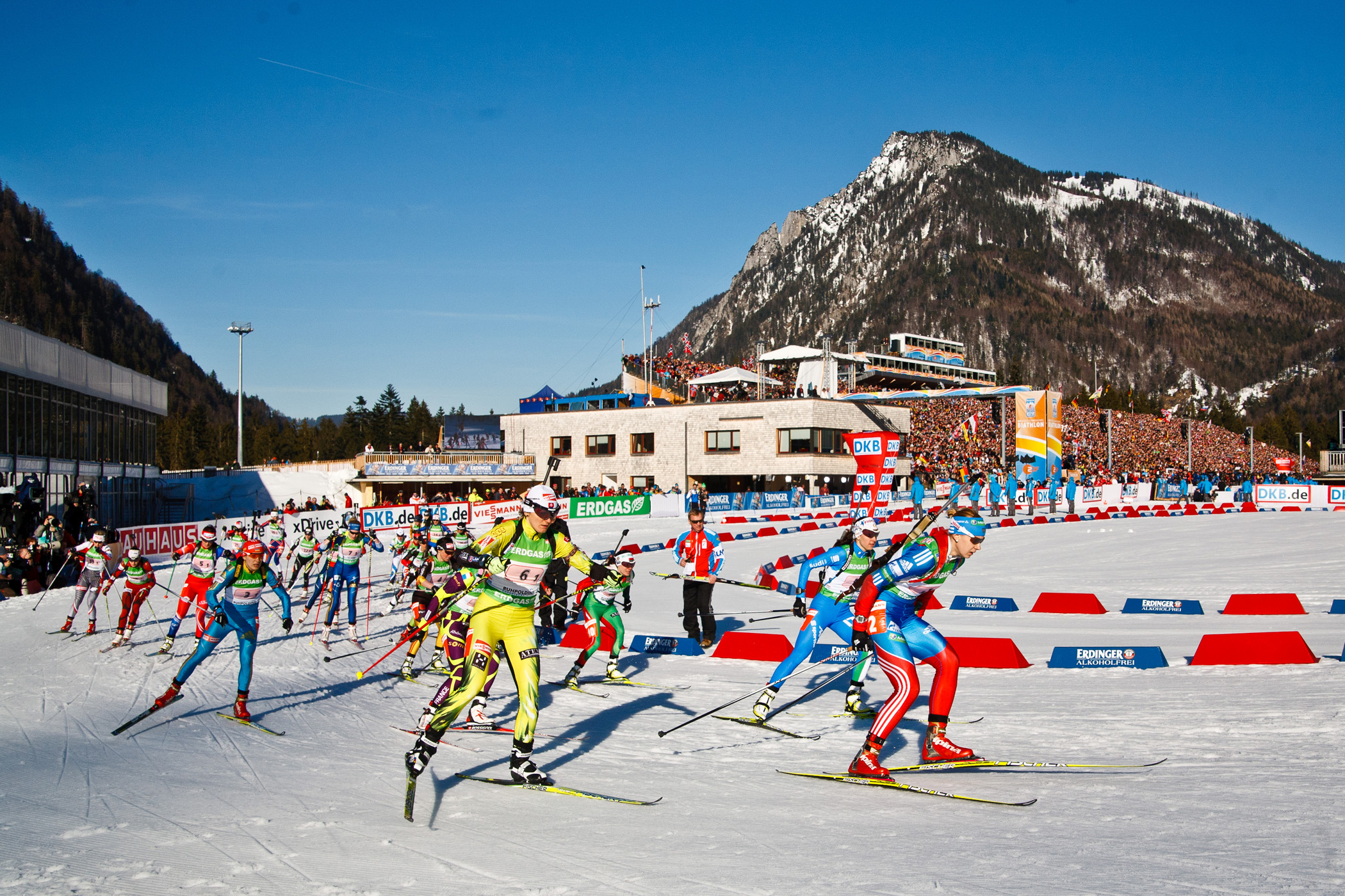 12 Biathlon in der Chiemgau Arena