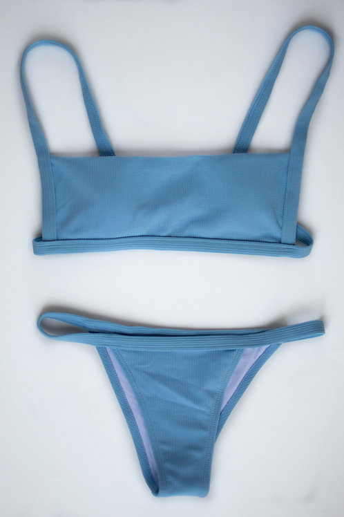 Women's Swim Top With 2 Bottoms -Small