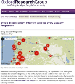 Tracking Casualties in Syria
