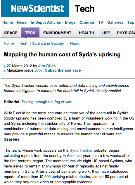 Mapping the Human Cost