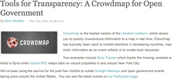 Tools for Transparency